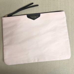 Victoria Secret Powder Pink Canvas LG Zipper Pouch